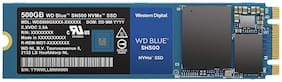 WD Blue SN500 500GB NVMe Internal SSD - Gen3 PCIe, M.2 2280, 3D NAND, Up to 1700 MB/s - WDS500G1B0C