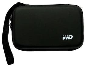 """WD Hard Disk Drive Cover Pouch case for 2.5"""" HDD WD Seagate Slim Sony Dell Toshiba(BLACK)"""