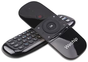 ENYBOX Wechip w1 6 axis airmouse with qwerty keyboard Wireless Keyboard Black