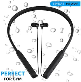 VB TRADE Wireless Bluetooth Neckband Earphones, Compatible for Samsung Oppo , OnePlus , Redmi Or Other Smartphones In-Ear Bluetooth Headset ( Multi color )