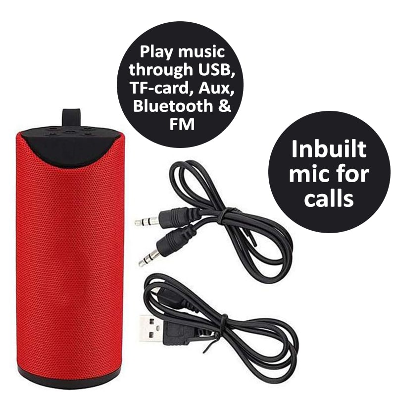 SD Card Reader Loud and Clear Audio Ferrari Red Leaf Pop- Portable Wireless Bluetooth Speaker with Mic FM Radio and Phone Stand Aux