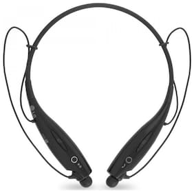 Zauky HBS-730 Bluetooth Headset with Mic  (Black, In the Ear)