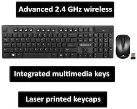 Zebronics Companion 102 Wireless Keyboard & Mouse Set ( Black )