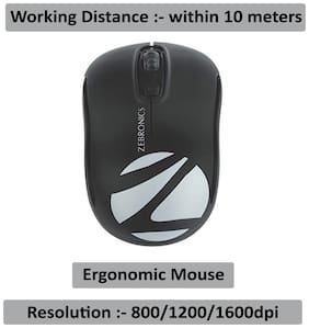 Zebronics Dash Wireless Wireless Mouse ( Black )