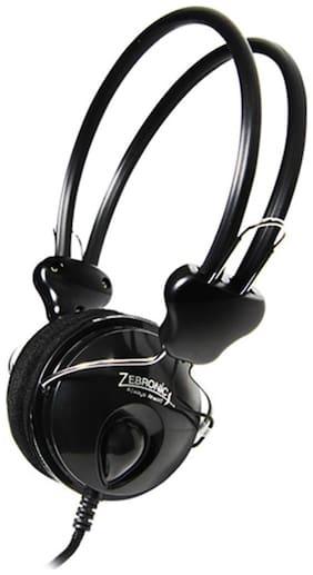 Zebronics Pleasant Wired Over Ear Headphone (Black)