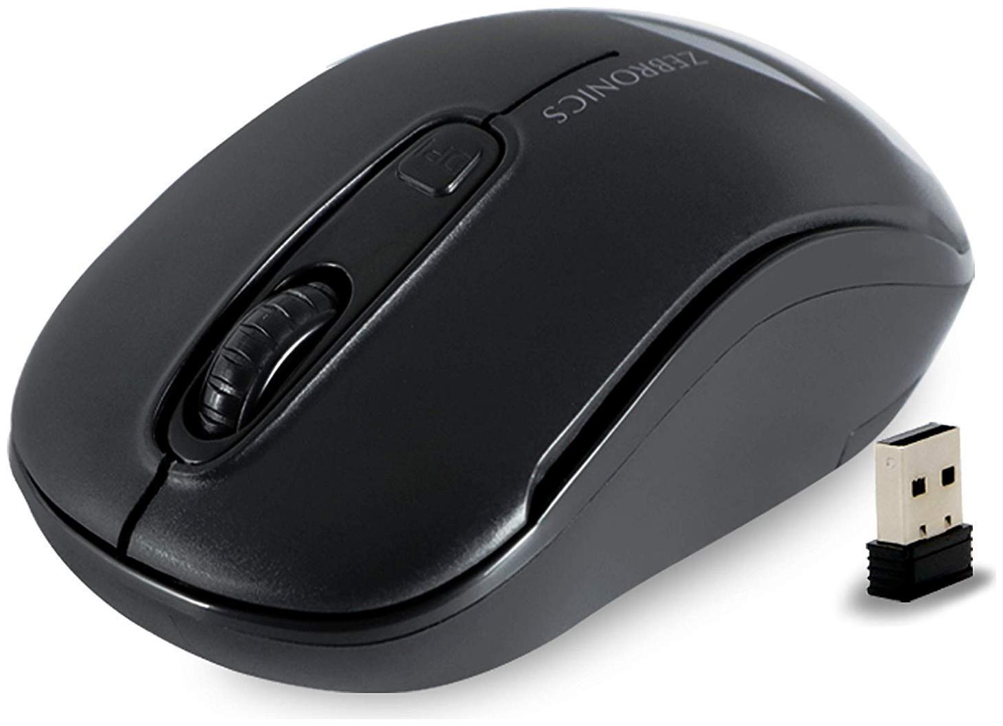 Zebronics Zeb Dash Wireless Mouse   Black
