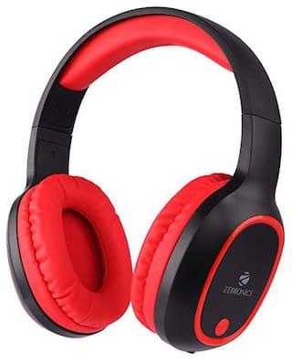 Zebronics ZEB-THUNDER Over-Ear Bluetooth Headset ( Black & Red )