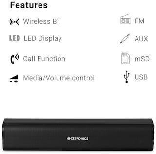 Zebronics ZEB-VITA PLUS Wired & Bluetooth Portable speaker ( Black )