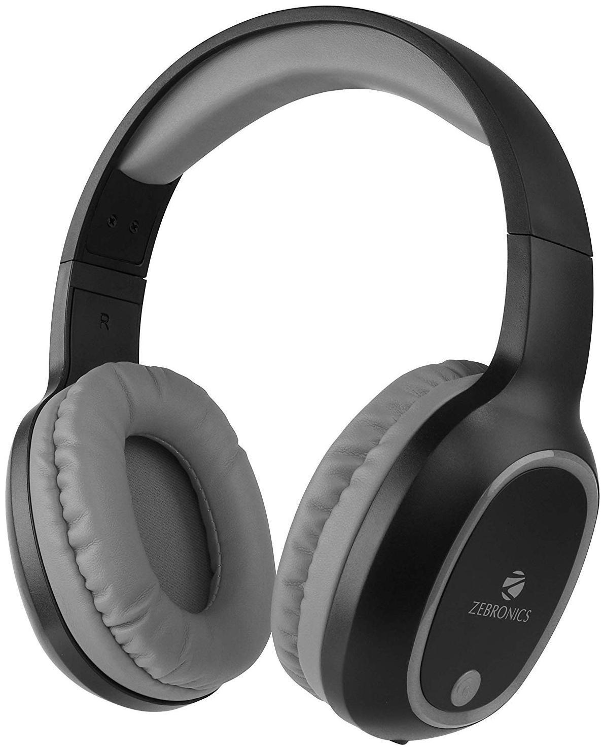 Zebronics Zeb-Thunder Wireless BT Headphone with Built-in FM,AUX Connectivity and Micro SD...