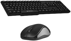 Zebronics Zeb-companion 107 Wireless Keyboard & Mouse Set ( Black )