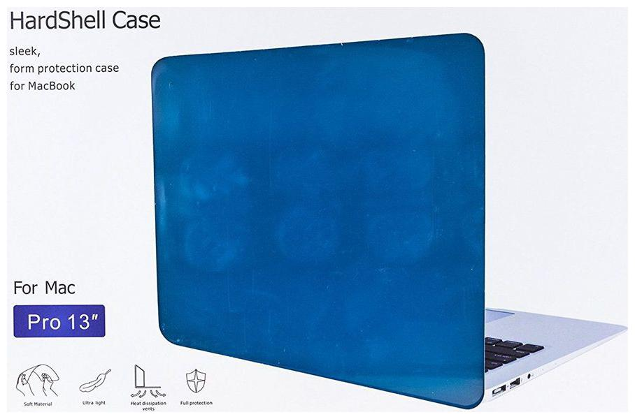 ZEVORA TRANSPARENT CRYSTAL FINISH APPLE MACBOOK PRO 13 13.3  HARD CASE SHELL COVER  Blue