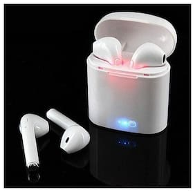 ZULX Bluetooth Headphones i7 i7S TWS Twins Earbuds Mini Wireless Earphones with Charger Dock V5.0 for phone Android In-Ear Bluetooth Headset ( White )