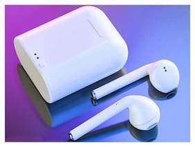 ZULX i7s TWS mini Wireless Headphones with Mic Earbuds In-Ear i7s Twins Earphones for All phone In-Ear Bluetooth Headset ( White )