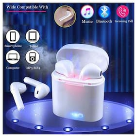 ZULX i7S TWS Earbuds Bluetooth 5.0 Twins Earphone  Smart Phone BT Wireless Headphones In-Ear Bluetooth Headset ( White )