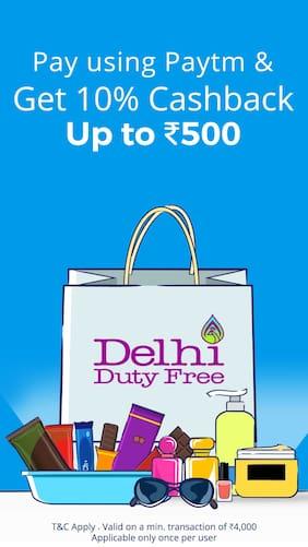 10% cashback at Delhi Duty Free when you pay using Paytm
