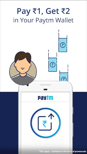 Pay Re.1 and get Rs.2 @ Paytm