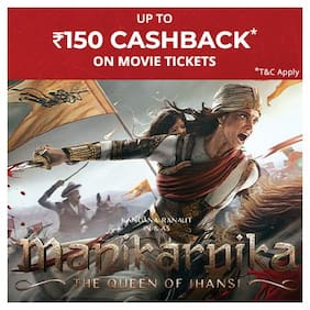 Book Manikarnika movie tickets on Paytm & get Cashback* upto Rs 150
