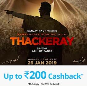 Book Thackeray movie tickets on Paytm & get Cashback* upto Rs 200