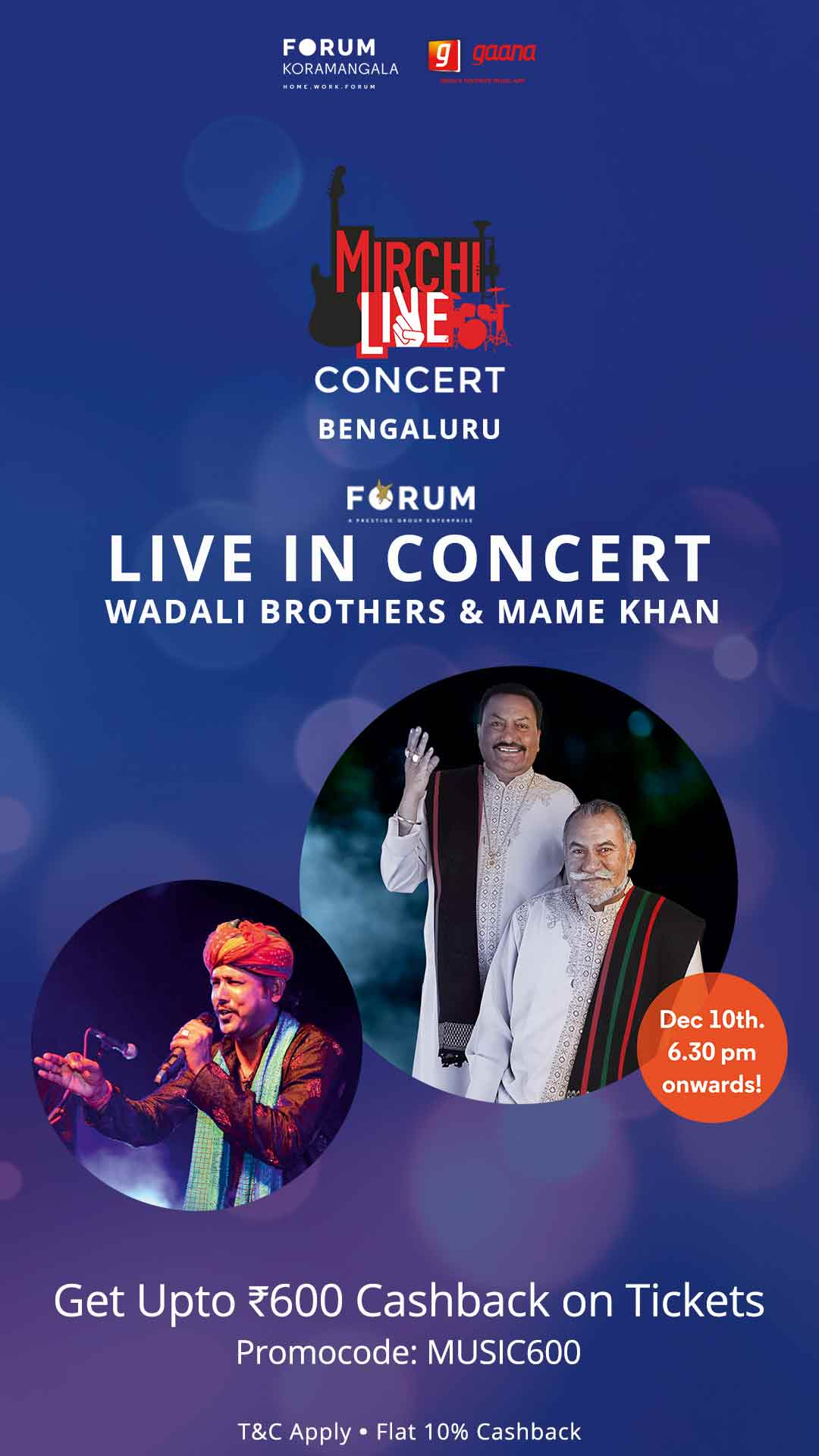 Forum rocks live with Wadali Brothers and Mame Khan