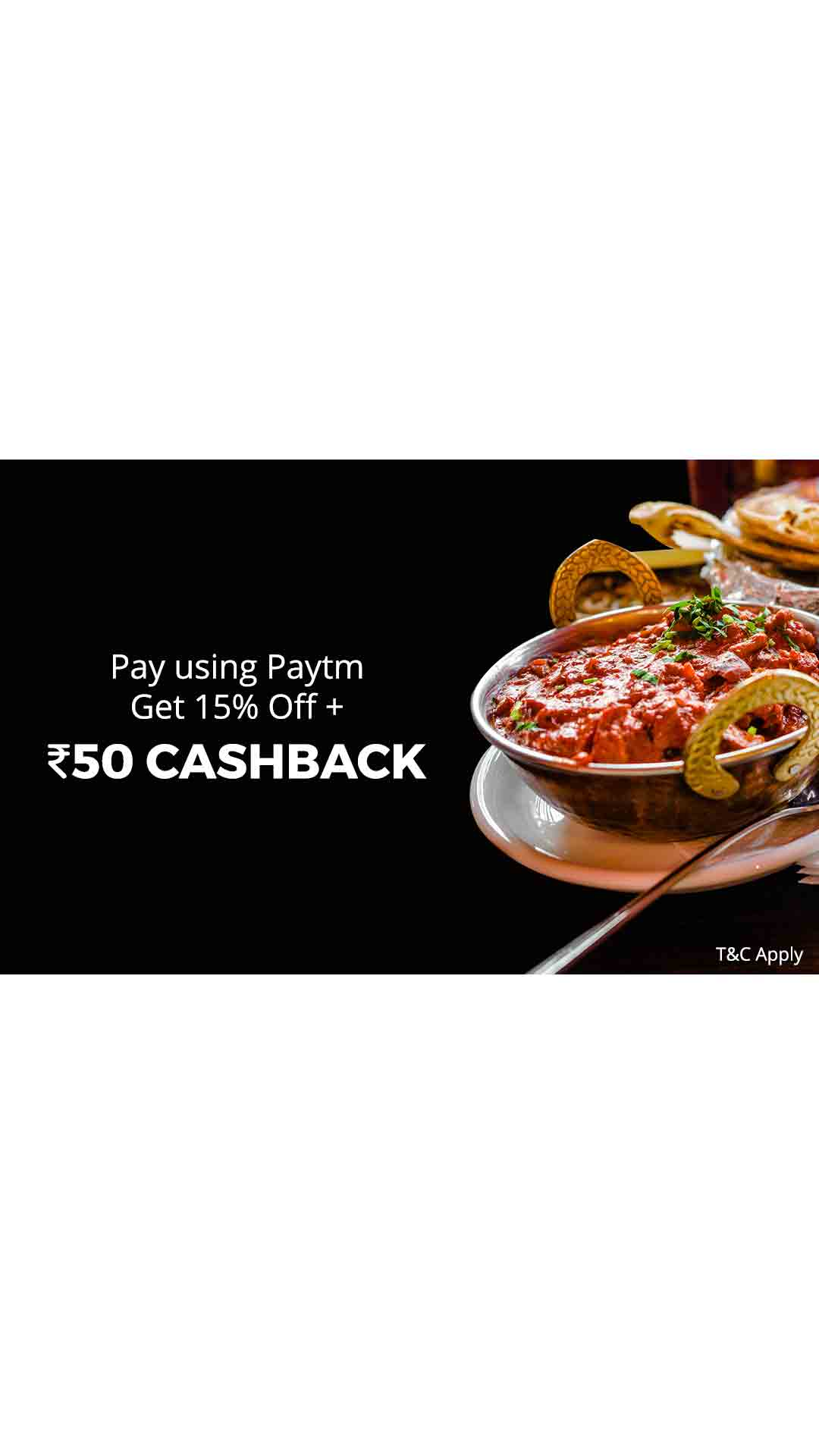 15% off + Flat Rs.50 cashback when you pay using Paytm at ZK's