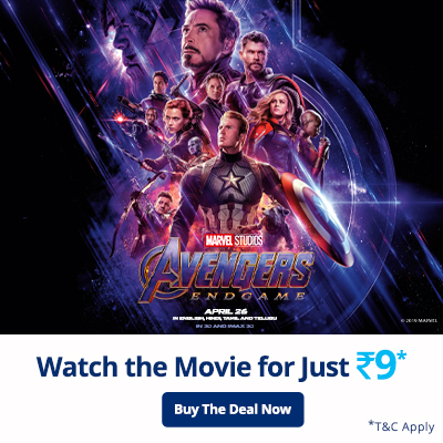 Flat Rs. 100 Cashback on Avengers Movie Tickets