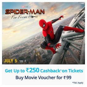 Get up to Rs. 250 cashback on ticket bookings for Spiderman
