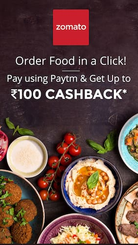 Upto Rs.100 cashback at Zomato