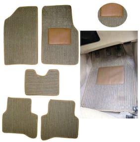 Hi Art Car Foot Mat Carpet Beige For Skoda Rapid