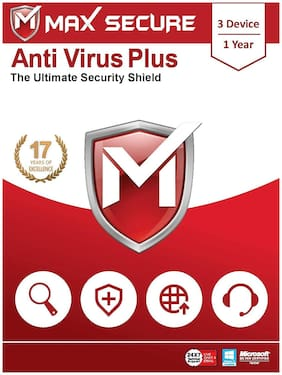 Max Secure Antivirus Plus 3 user 1 year (Email delivery- No CD)