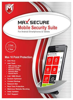 Max Secure Mobile Security 1 user 3 year (Email delivery- No CD)