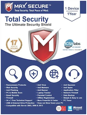 Max Secure Total Security 3 user 3 year (Email delivery- No CD)