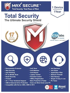 Max Secure Total Security 3 user 1 year (Email delivery- No CD)