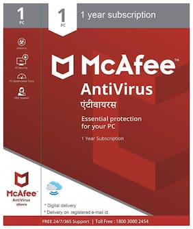 McAfee Anti-Virus - 1 PC  1 Year (Email delivery- No CD)