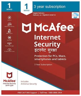 McAfee Internet Security - 1 User  3 Years (Email delivery- No CD)