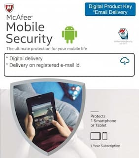 McAfee Mobile Security - 1 Device  1 Year (Email delivery- No CD)