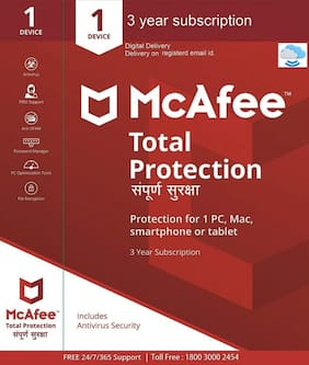 McAfee Total Protection - 1 User  3 Years (Email delivery- No CD)