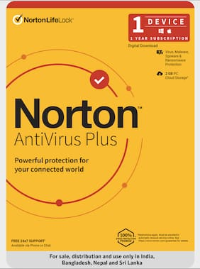 Norton Antivirus Plus | 1 User 1 Year | For 1 PC or Mac | Activation Code Via Email in 2 Hrs