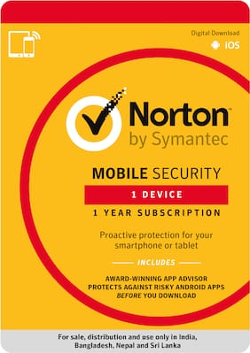 Norton Mobile Security - 1 pc - 1 Year - (Email Delivery in 2 hours- No CD)