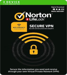 Norton Secure VPN - 3 pc 1 Year  - (Email Delivery in 2 hours- No CD)