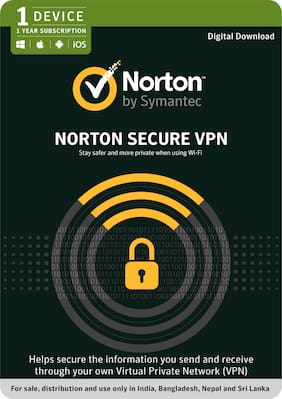 Norton Secure VPN - 1 PC 1 Year  - (Email Delivery in 2 hours- No CD)
