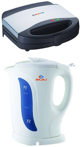 Bajaj Combo of ElecKettle1.7L Non-Strix Majesty Sandwich Toaster New SWX 7