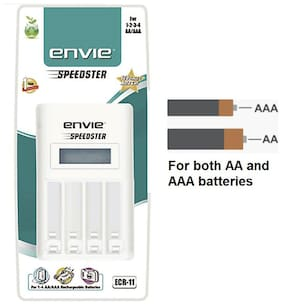 Envie Speedster ECR-11 Battery Charger (White)