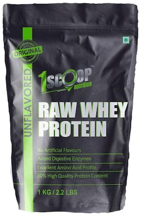 1 Scoop Nutrition Pure & ASITIS Whey Protein Powder 1 kg - With Digestive Enzymes