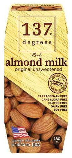 137 Degree Milk - Almond  Unsweetened 180 ml