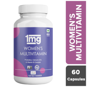 1mg Women's Multivitamin Immunity Booster Zinc;Vitamin C;Calcium;Vitamin D and Iron Vegetarian 60 Tablet (Pack of 1)