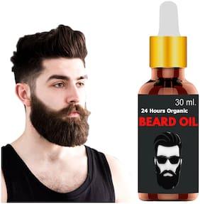 24 Hours Organic Beard Oil for Faster Hair Growth Hair Oil  (30 ml)