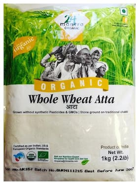 24 Mantra Organic Atta - Whole Wheat 1 kg