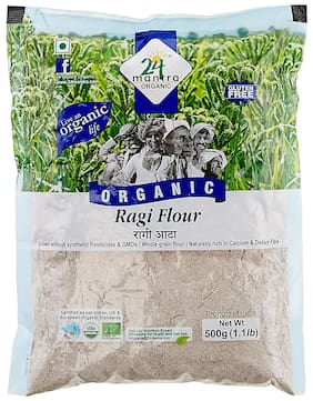 24 Mantra Organic Flour - Ragi 500 gm