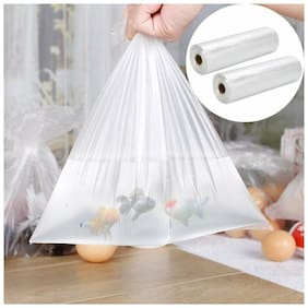 """2x 350 Bags / Roll Clear Plastic Produce Bag 12""""x20'' Kitchen Food Storage Fruit"""