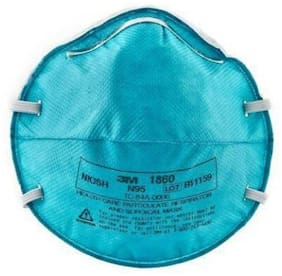 3M 1860 NIOSH CERTIFIED N95 Health Care Particulate Respirator Mask (Pack Of 1)